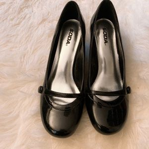 Patent Leather Mary Jane Kitten Heels
